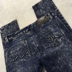 Almost Famous Skinny Jeans Acid Wash Stretch Sz 7